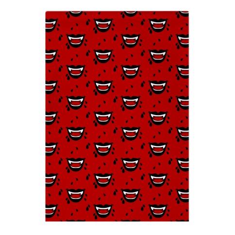 Black Vampire Lips Pattern Garden Flag