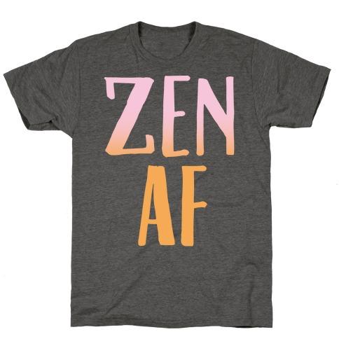 Zen Af White Print T-Shirt