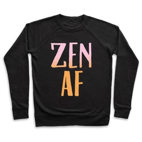 Zen Af White Print Pullover