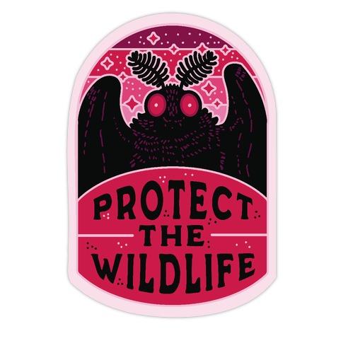 Protect the Wildlife (Mothman) Die Cut Sticker