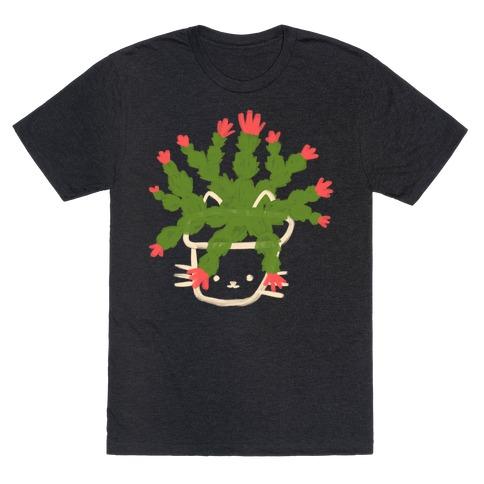 Christmas Cactus Cat T-Shirt