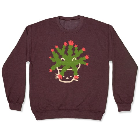 Christmas Cactus Cat Pullover