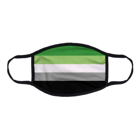 Aromantic Pride Flag Flat Face Mask