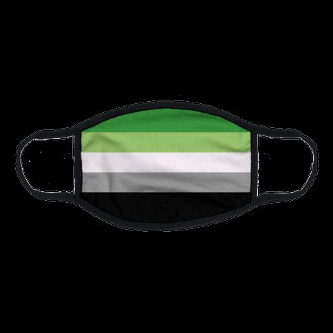 Aromantic Pride Flag Flat Face Mask