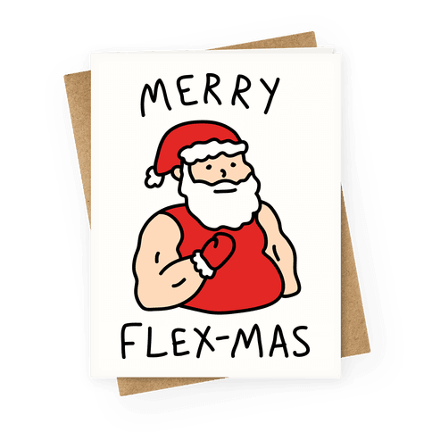 Merry Flex-mas Greeting Card