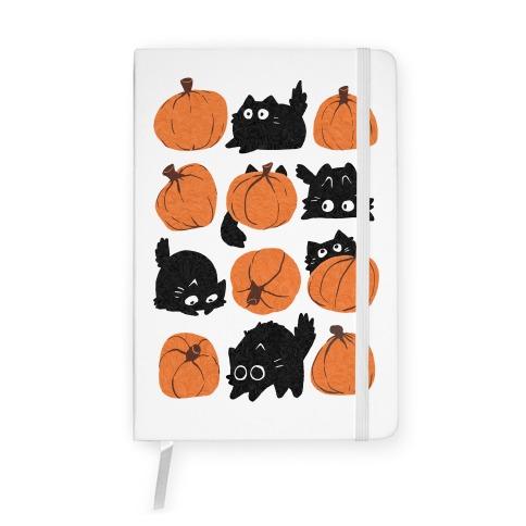 Pumpkin Cats Notebook