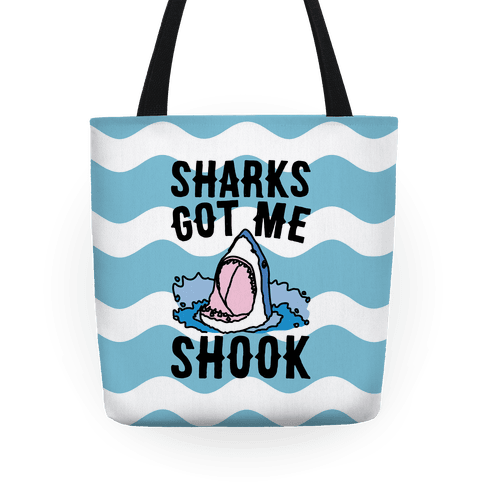 Sharks Got Me Shook Tote