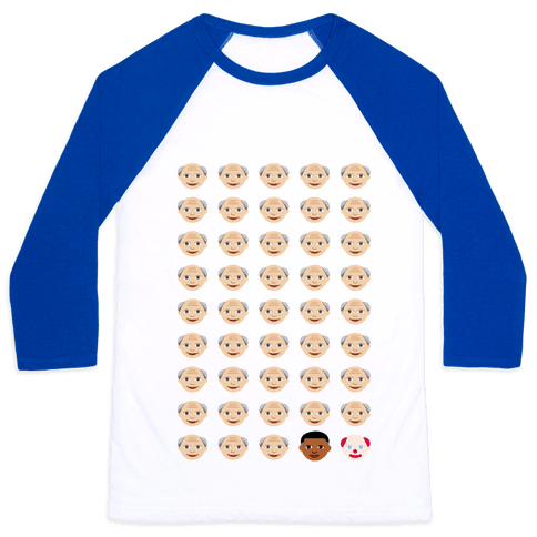 American President Explained by Emojis Baseball Tee