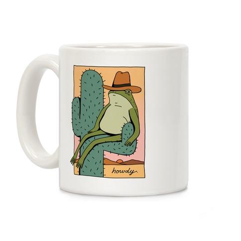 Howdy Frog Cowboy Coffee Mug