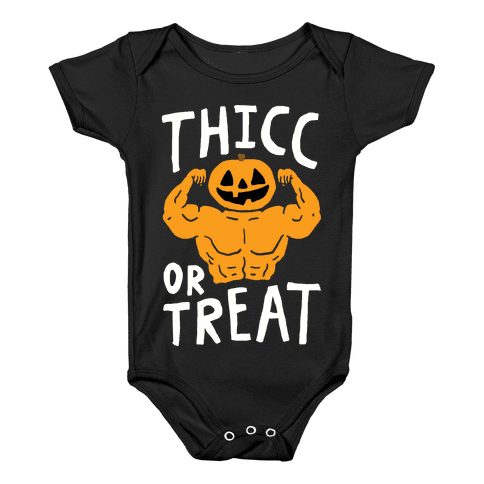 Thicc Or Treat Halloween Baby Onesy