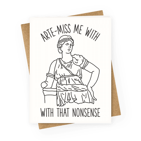 Arte-miss me Greeting Card