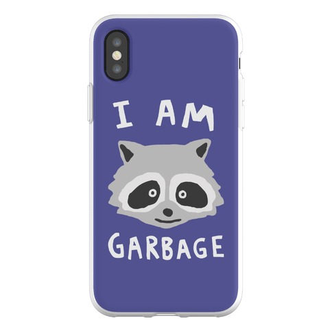 I Am Garbage Raccoon Phone Flexi-Case
