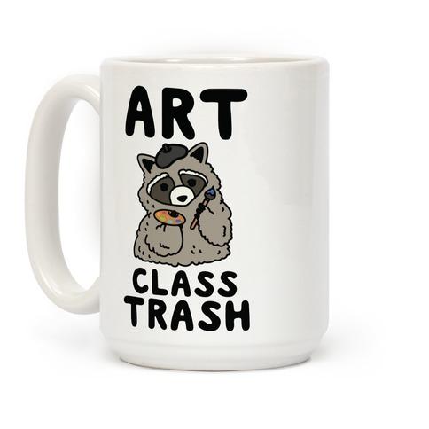 Art Class Trash Raccoon Coffee Mug
