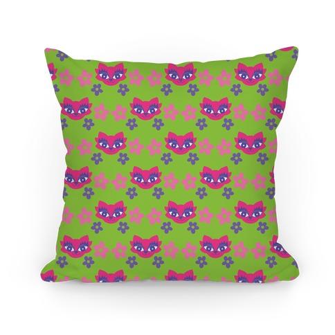 Y2K Cat Pattern Pillow