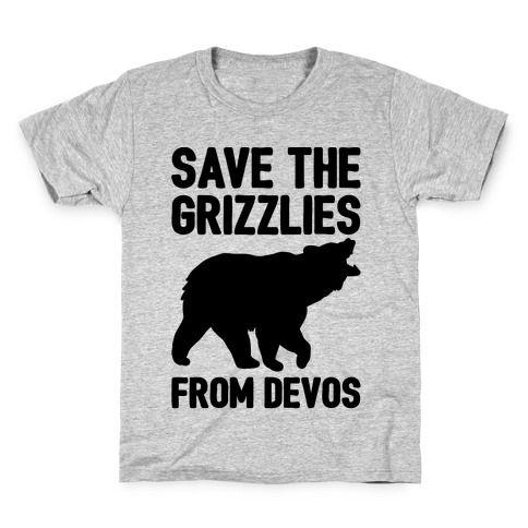 Save The Grizzlies From DeVos Kids T-Shirt