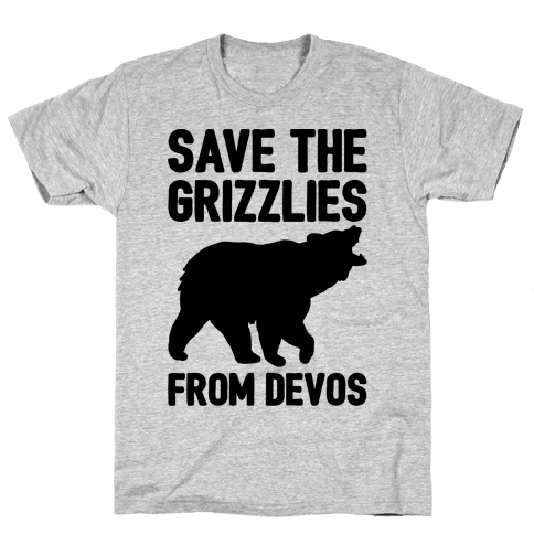 Save The Grizzlies From DeVos Mens T-Shirt