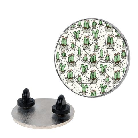 Geometric Cactus Pin