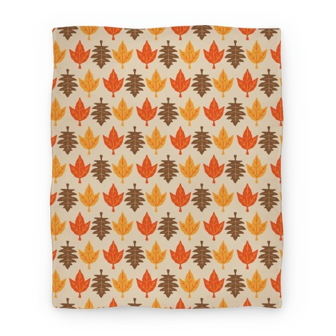 Autumn Leaves Pattern Blanket