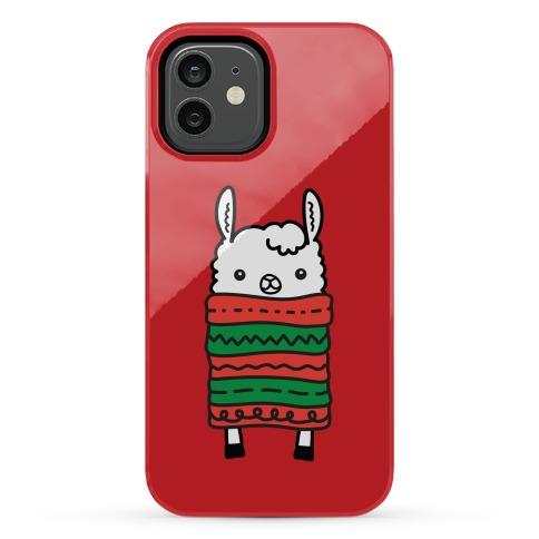 Long Llama Scarf Phone Case