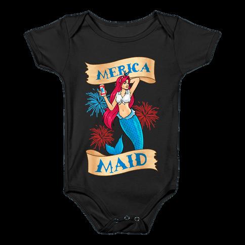 Merica Maid Baby Onesy