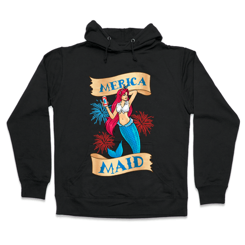 Merica Maid Hooded Sweatshirt