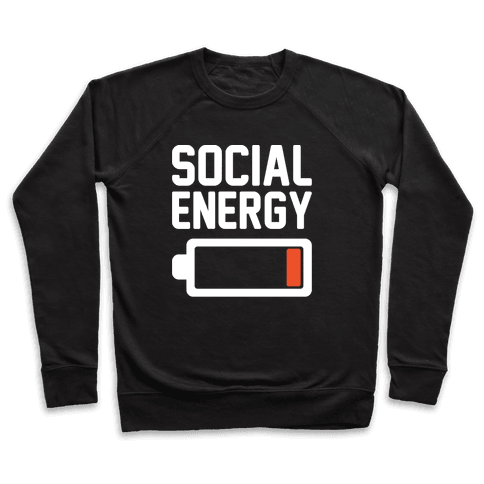 Social Energy Low White Print Pullover
