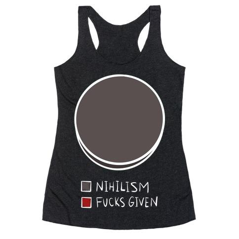 Nihilism Pie Chart Racerback Tank Top