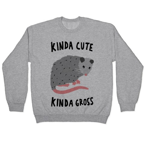 Kinda Cute Kinda Gross Opossum Pullover