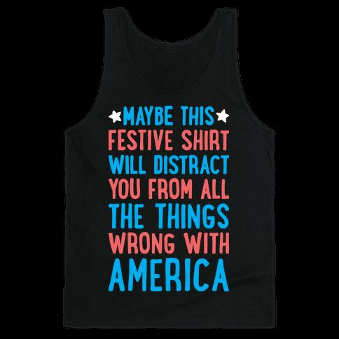 Festive American Distraction  Tank Top