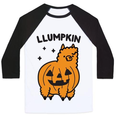 Llumpkin Llama Pumpkin Baseball Tee