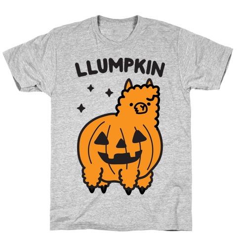 Llumpkin Llama Pumpkin T-Shirt