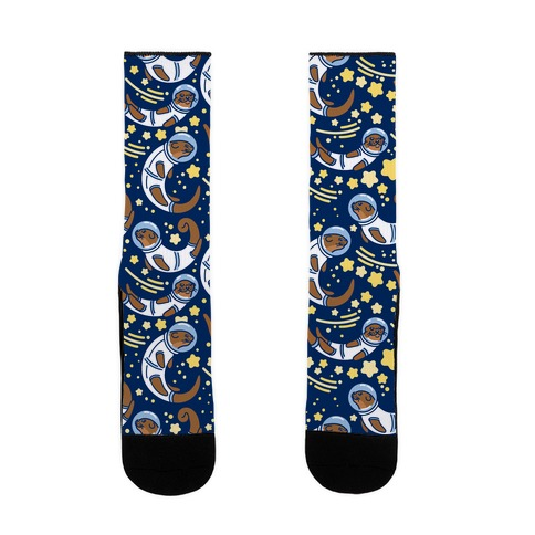 Otters In Space Sock