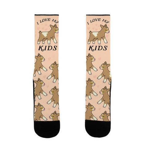 I Love My Kids (Goat) Sock