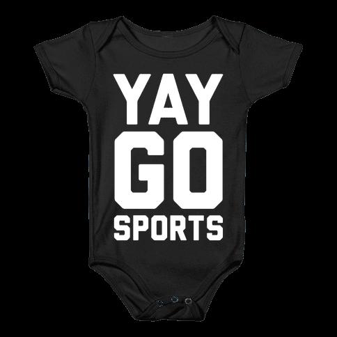 Yay Go Sports Baby Onesy