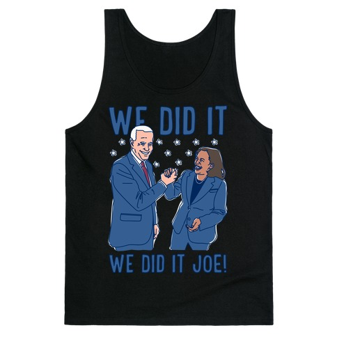 We Did It We Did It Joe White Print Tank Top