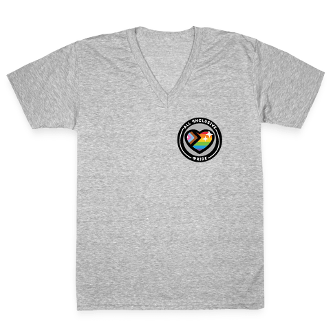 All Inclusive Pride Patch V-Neck Tee Shirt