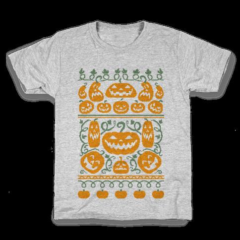 Ugly Pumpkin Sweater Kids T-Shirt