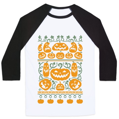 Ugly Pumpkin Sweater Baseball Tee