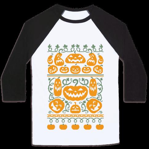 Ugly Pumpkin Sweater Baseball Tee