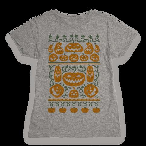 Ugly Pumpkin Sweater Womens T-Shirt