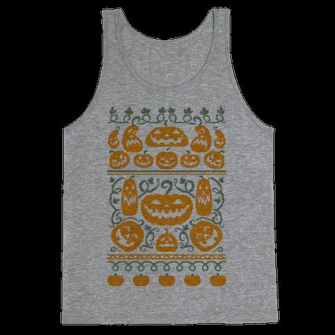 Ugly Pumpkin Sweater Tank Top