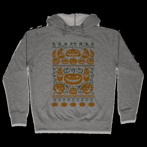 Ugly Pumpkin Sweater Hooded Sweatshirt