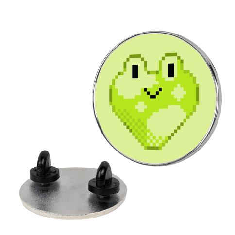 Pixel Frog Hearts Pin