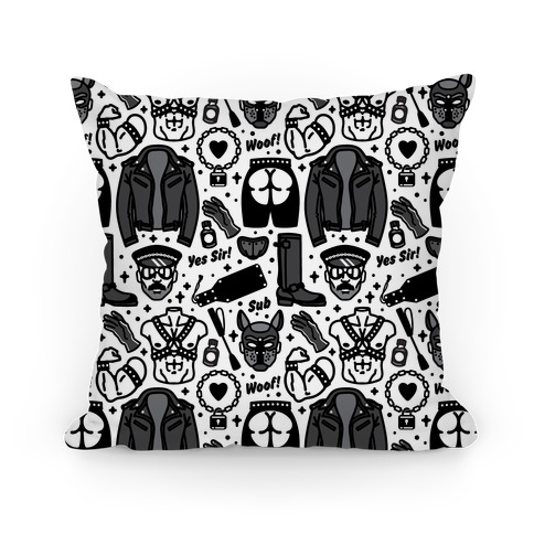 Leather Daddy Pattern Pillow