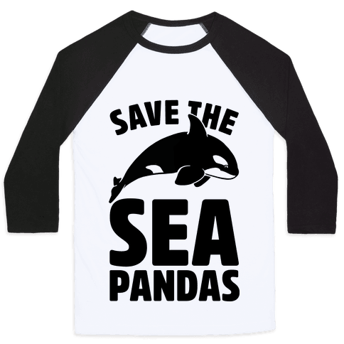 Save The Sea Pandas (cmyk) Baseball Tee