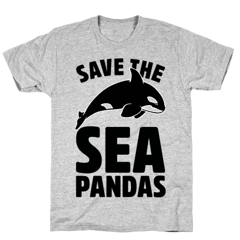 Save The Sea Pandas (cmyk) T-Shirt
