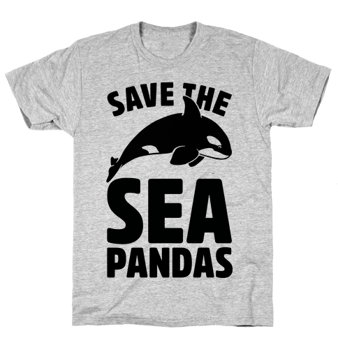 Save The Sea Pandas (cmyk) Mens T-Shirt