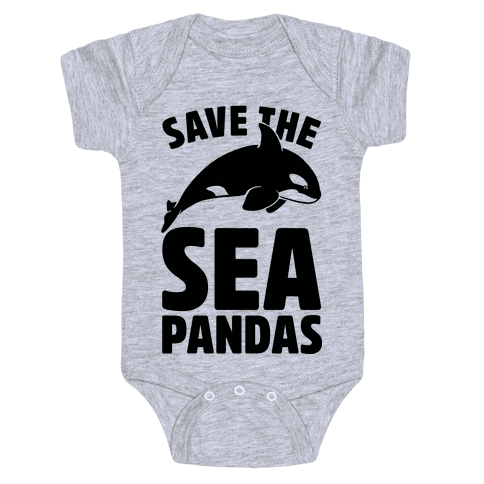 Save The Sea Pandas (cmyk) Baby Onesy