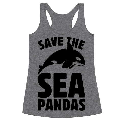 Save The Sea Pandas (cmyk) Racerback Tank Top