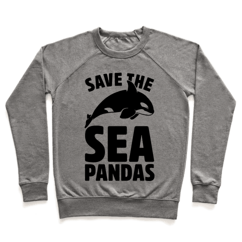 Save The Sea Pandas (cmyk) Pullover